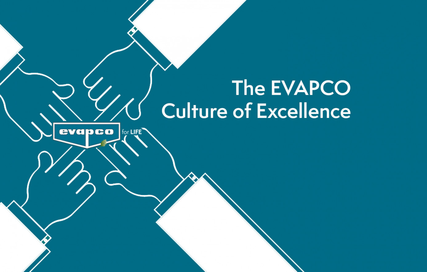 Hands Pointing to EVAPCO Logo