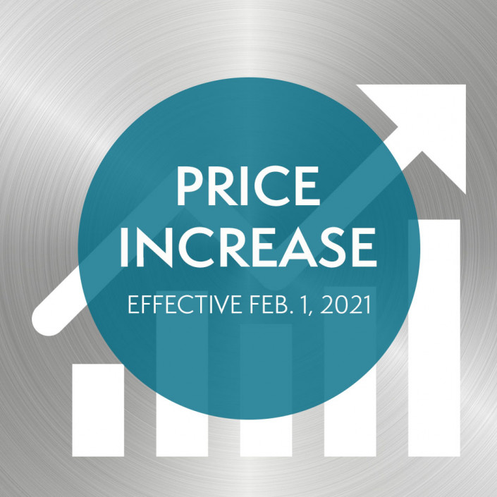 Price Increase Text over Graph and Metal Background
